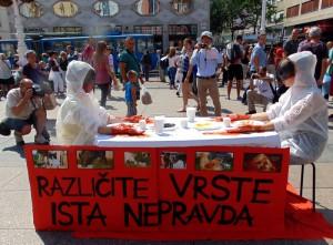 """Aktivistička izvedba inicijative """"Stop specizmu"""""""