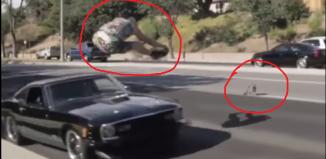 Lude akrobacije po autoputu za spas mačke