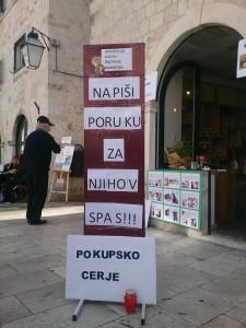 Podrška prosvjedu organizirana je i u Dubrovniku.