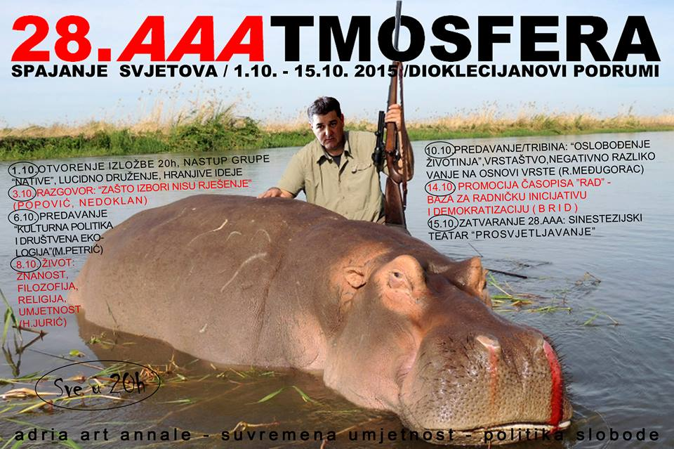 """Robert Međugorac: """"OSLOBOĐENJE ŽIVOTINJA - Vrstaštvo, negativno razlikovanje na osnovi vrste"""" - predavanje u sklopu spajanja svjetova Adria Art Annale."""