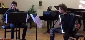 Krešimir Lulić (harmonika) i Martin Kutnar (harmonika)
