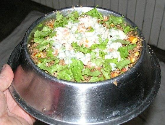 Evo konačno i porcija za našu 'patku za večeru' i za njezinog pjetlića, za naše predrage Belu i Čupka. Nadamo se da će im se svidjeti večera.