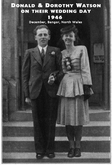 Donald Watson i Dorothy (Morgan) Watson na dan vjenčanja.