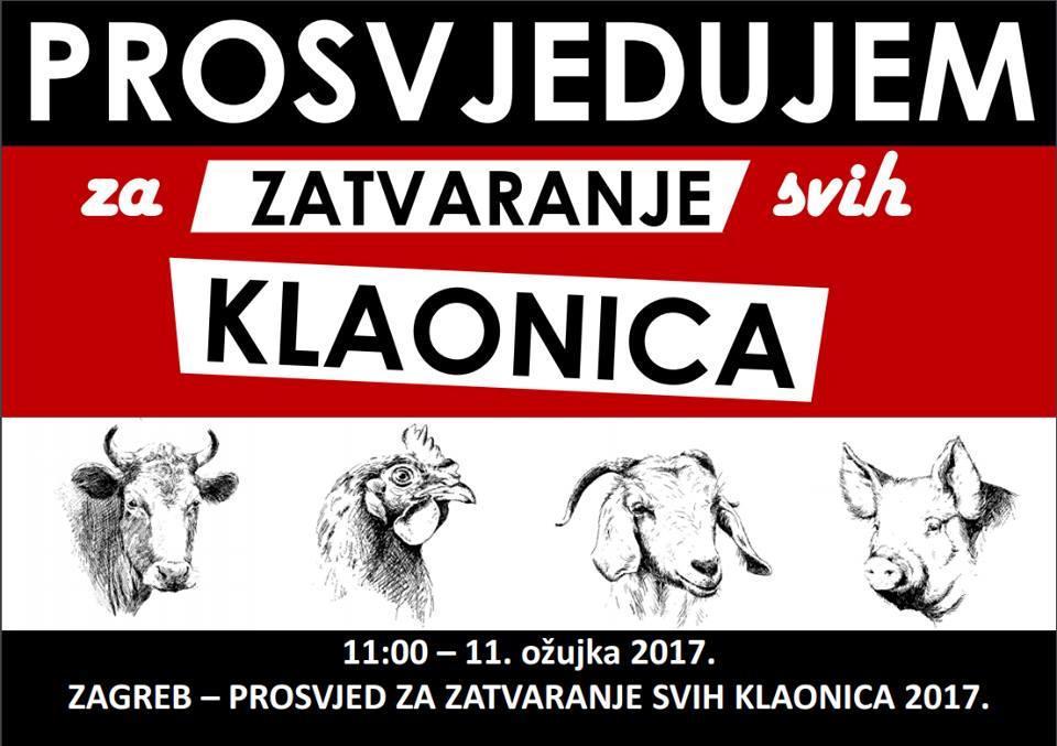 subota 11. 3. 2017. u 11 sati Trg bana Jelačića, Zagreb