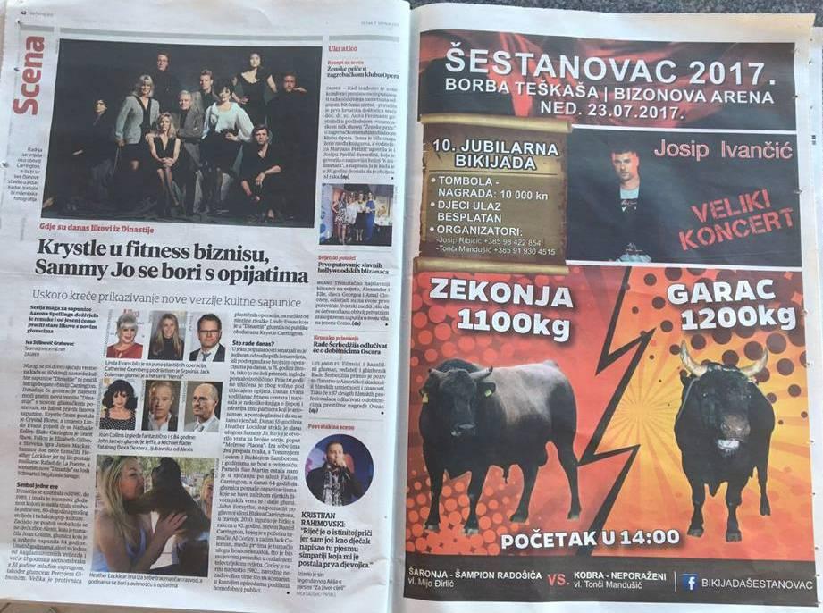 Plaćeni oglas u srednjostrujaškim novinama čiji urednici ne vide ništa sporno u borbi bikova.