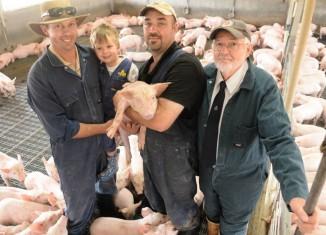 Vlasnici ogromne farme svinja se zadovoljno smiješe na obiteljskoj fotografiji, iako znaju da će porobljene svinje sve biti poklane isključivo zbog njihove financijske koristi.