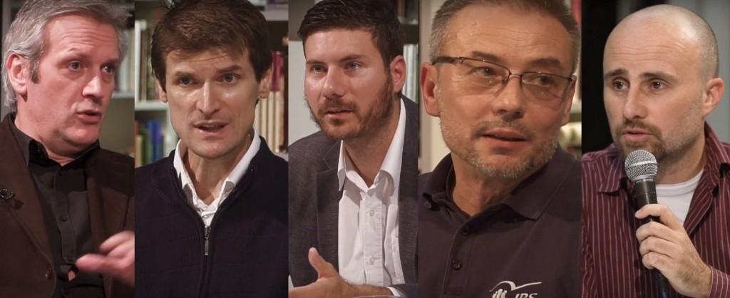 S lijeva na desno: Luka Nenad Juranić, Šime Validžić, Ivan Pernar, Dražen Klarić i Robert Međugorac